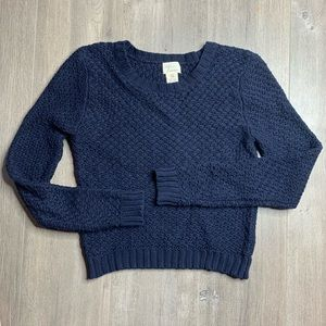 ANDREA JOVINE   Anthro Navy Blue Knit Sweater A33
